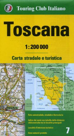Touring Club Italia - TCI Italy Driving Maps at 1:200,000